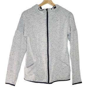 Old Navy Women's Gray Full Zip Activewear Sweater Hoodie X-Small Thumb Hole